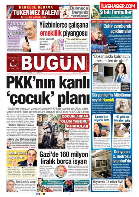 Gazetelerin bugünkü manşetleri ( 25/8) galerisi resim 6