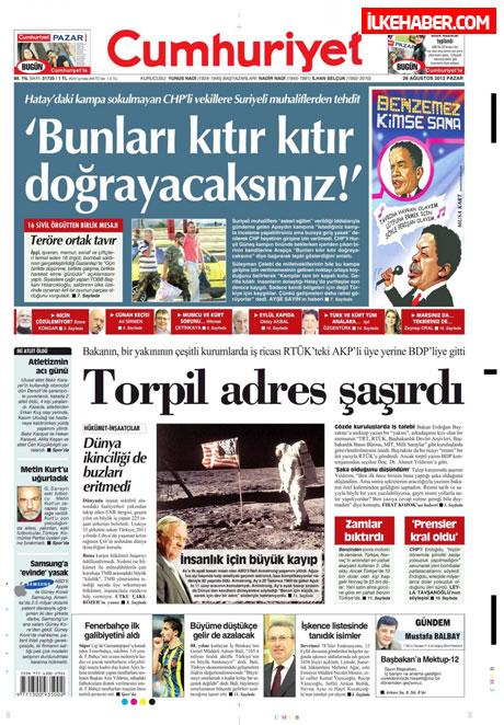 Gazetelerin bugünkü manşetleri ( 25/8) galerisi resim 7