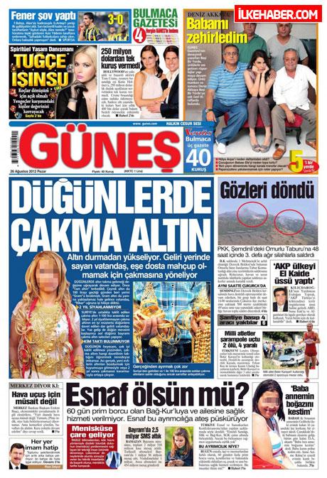 Gazetelerin bugünkü manşetleri ( 25/8) galerisi resim 8