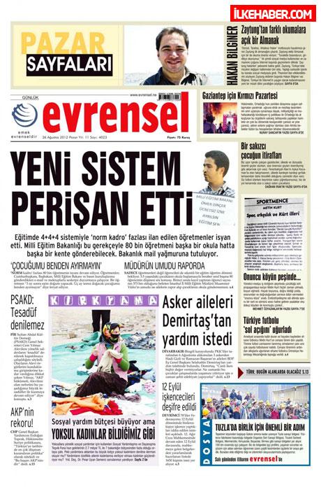 Gazetelerin bugünkü manşetleri ( 25/8) galerisi resim 9