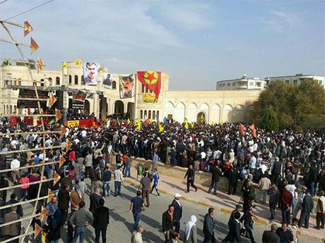 Nusaybin'de-Rojava'da duvar protesto edildi galerisi resim 15