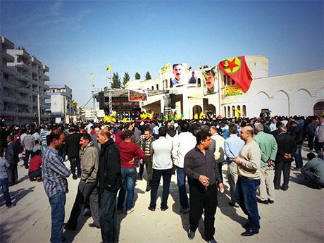 Nusaybin'de-Rojava'da duvar protesto edildi galerisi resim 18