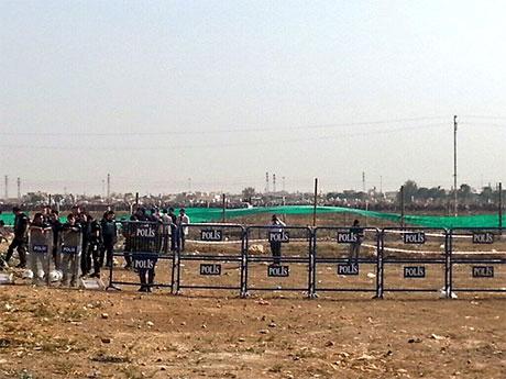 Nusaybin'de-Rojava'da duvar protesto edildi galerisi resim 19