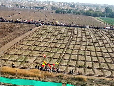 Nusaybin'de-Rojava'da duvar protesto edildi galerisi resim 2