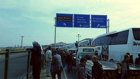 Nusaybin'de-Rojava'da duvar protesto edildi galerisi resim 4
