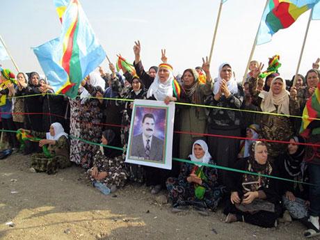 Nusaybin'de-Rojava'da duvar protesto edildi galerisi resim 46