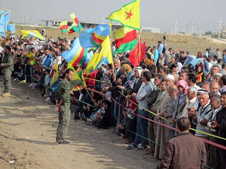 Nusaybin'de-Rojava'da duvar protesto edildi galerisi resim 50