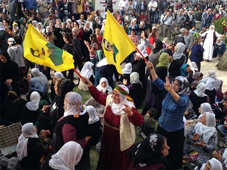 Nusaybin'de-Rojava'da duvar protesto edildi galerisi resim 8