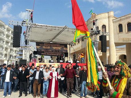 Nusaybin'de-Rojava'da duvar protesto edildi galerisi resim 9