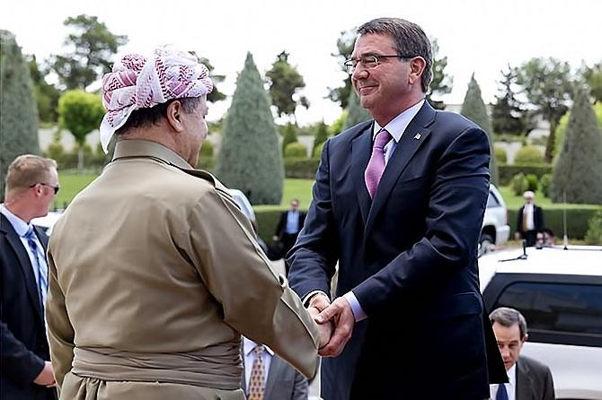 ABD Savunma Bakanı'nın Hewler ziyareti galerisi resim 1