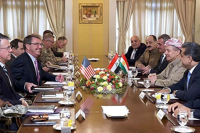 ABD Savunma Bakanı'nın Hewler ziyareti galerisi resim 5