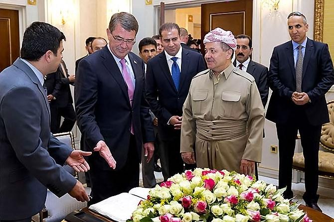 ABD Savunma Bakanı'nın Hewler ziyareti galerisi resim 6