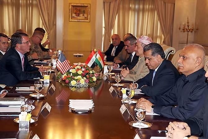 ABD Savunma Bakanı'nın Hewler ziyareti galerisi resim 7