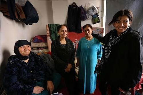 Paris Belediye Başkanı Hewler'de sığınmacı'larla galerisi resim 5