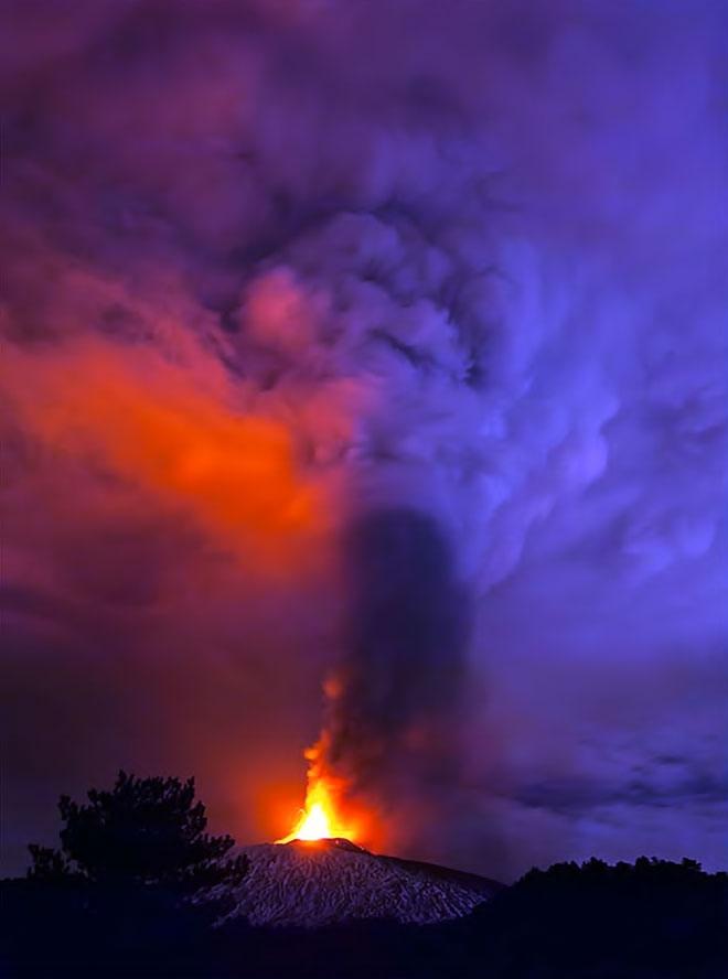 Sessizliğini bozan Etna'dan eşsiz görüntüler galerisi resim 10