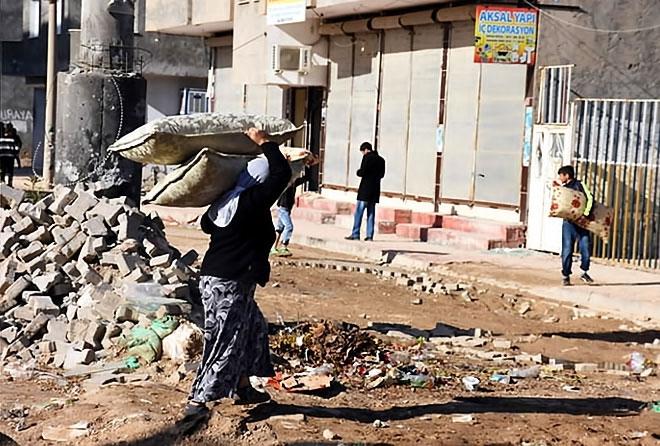 Çatışmalar sonrası Nusaybin'den çarpıcı kareler galerisi resim 1