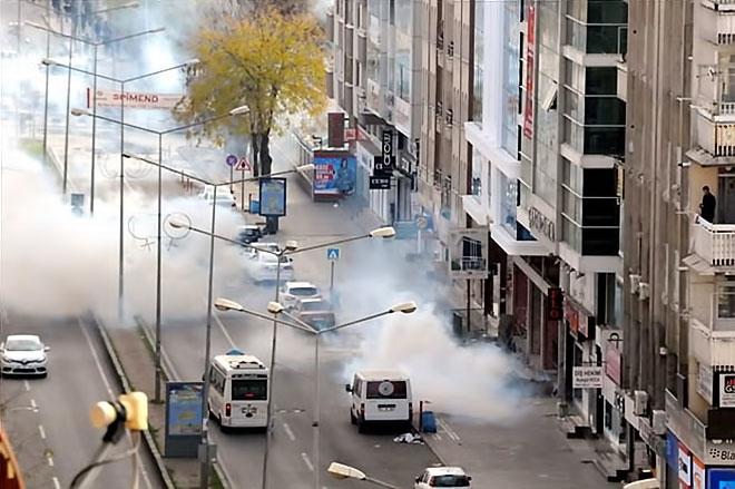 Diyarbakır'da 'Sur' protestosunda olaylar çıktı galerisi resim 14