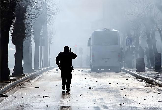 Van'daki protestolara polis müdahalesi galerisi resim 6