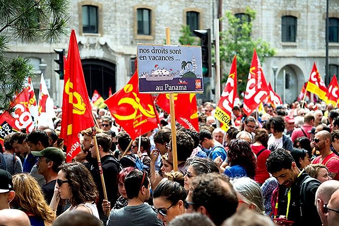 Fransa'da işçiler ayakta galerisi resim 9