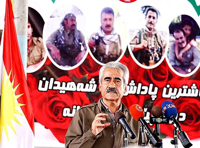 İran'la çatışmada hayatını kaybeden 6 KDP-İ Peşmergesi için taziye galerisi resim 17