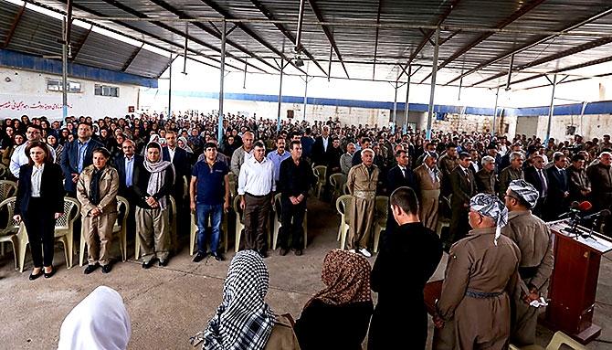 İran'la çatışmada hayatını kaybeden 6 KDP-İ Peşmergesi için taziye galerisi resim 6