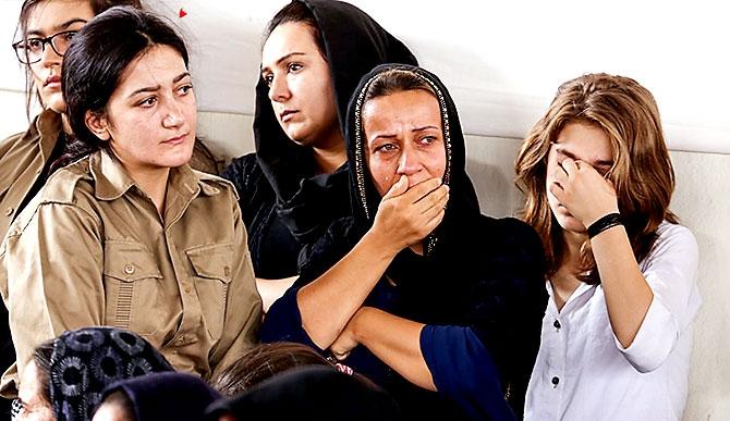 İran'la çatışmada hayatını kaybeden 6 KDP-İ Peşmergesi için taziye galerisi resim 7