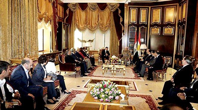 Fotoğraflarla HDP heyetinin Kürdistan ziyareti galerisi resim 13