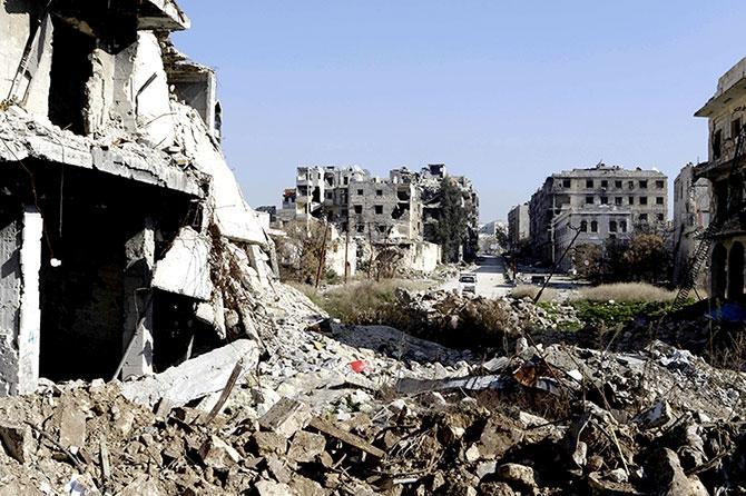 Suriye'nin Halep kentinden geriye kalanlar galerisi resim 1