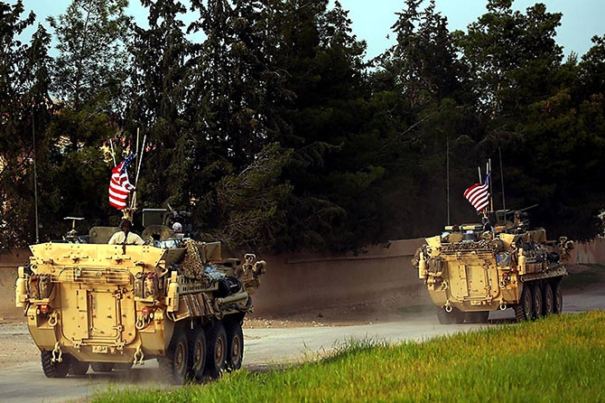 ABD zırhlıları Rojava-Türkiye sınırında galerisi resim 13