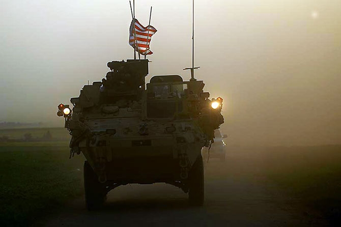 ABD zırhlıları Rojava-Türkiye sınırında galerisi resim 2