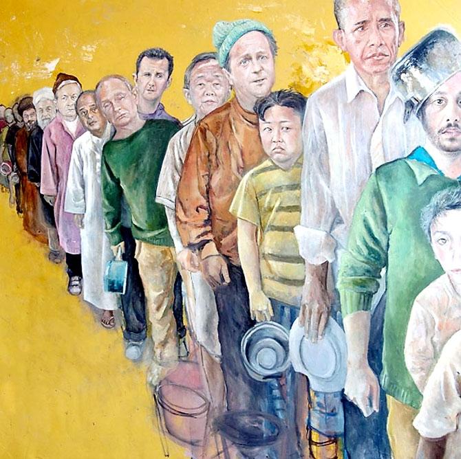 Dünya liderleri mülteci oldu galerisi resim 8