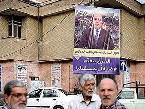 Irak Meclis adaylarının afişleri Tahran sokaklarında