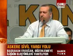 Erdoğan Baykal'a fena yüklendi
