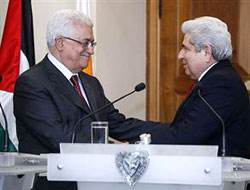 Filistin lideri Abbas'tan Rumlara destek