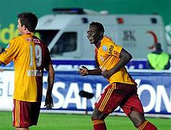 Nonda üçledi, Galatasaray liderliği kaptırmadı