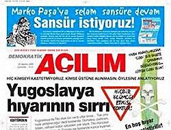 Demokratik Açılım gazetesi kapatıldı