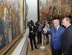 """Putin bu kez de ressamı """"hizaya çekti"""""""