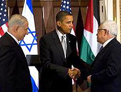 Obama-Abbas-Netanyahu görüşmesi