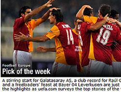 UEFA'da haftanın takımı Galatasaray