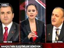 Sunucu MHP'li Oktay Vural'la atıştı