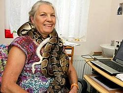 Evinde bir değil tam 45 yılanla birlikte yaşıyor