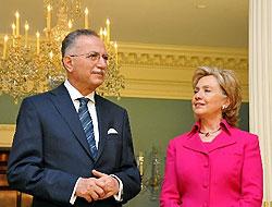 İhsanoğlu, Hillary Clinton ile görüştü