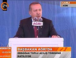 Erdoğan'dan, Ağrı'da önemli mesajlar