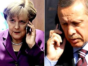 Merkel'den Erdoğan'a taziye telefonu