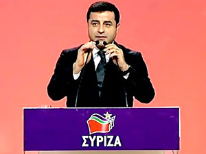 Selahattin Demirtaş Syriza'ya konuştu