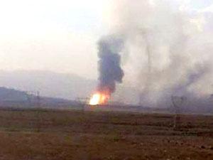 Ağrı'da doğalgaz boru hattında patlama