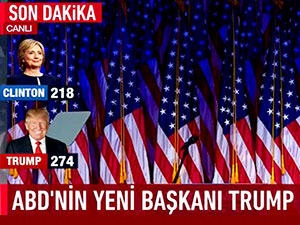 ABD'nin yeni başkanı Trump oldu