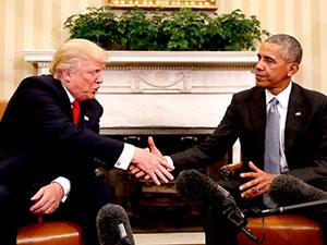 Obama, yeni başkan Donald Trump ile görüştü