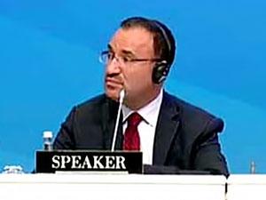 NATO toplantısında Bozdağ konuştu, HDP'li Pir itiraz etti
