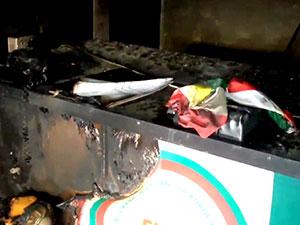 Tirbesipiye'de ENKS Ofisi kundaklandı